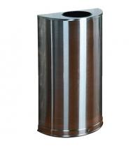 Контейнер для мусора Rubbermaid Designer 45л металлик, с внутренним ведром, FGSO12SSSPL