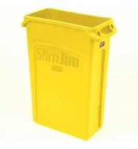 Контейнер для мусора Rubbermaid SlimJim 87л желтый, с системой вентиляции, 1956188