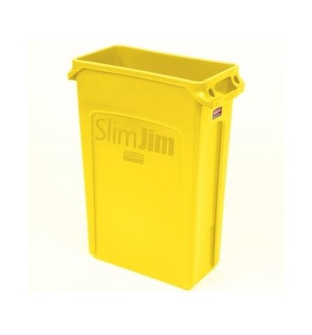 фото: Контейнер для мусора Rubbermaid SlimJim 87л желтый, с системой вентиляции, 1956188