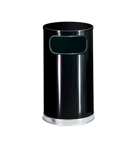 фото: Контейнер для мусора Rubbermaid Designer 45л черный, с внутренним ведром, FGSO1620GLBK