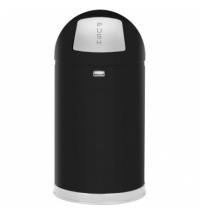 Контейнер для мусора Rubbermaid EasyPush 45л черный, с качающейся крышкой, с внутренним ведром, FGR1530EGLBK