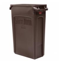 Контейнер для мусора Rubbermaid SlimJim 87л коричневый, с системой вентиляции, 1956187