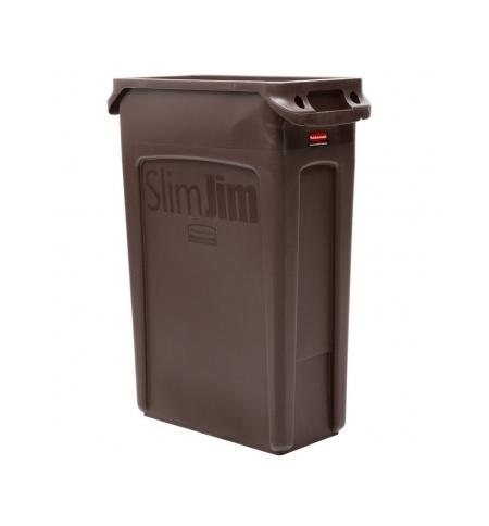 фото: Контейнер для мусора Rubbermaid SlimJim 87л коричневый, с системой вентиляции, 1956187
