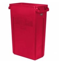 Контейнер для мусора Rubbermaid SlimJim 87л красный, с системой вентиляции, 1956189