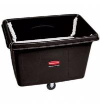 Ящик для хранения Rubbermaid 400л черный, на колесах, с подпружиненным дном, FG461100BLA