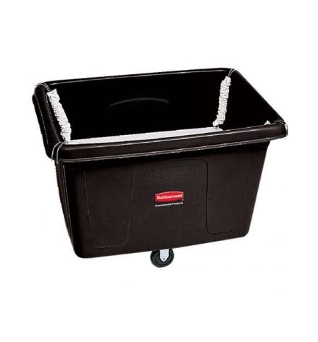 фото: Ящик для хранения Rubbermaid 400л черный, на колесах, с подпружиненным дном, FG461100BLA