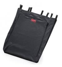 Контейнер-бак для мусора на колесах Rubbermaid 114л для полотняных мешков, черный, с педалью, FG630000BLA
