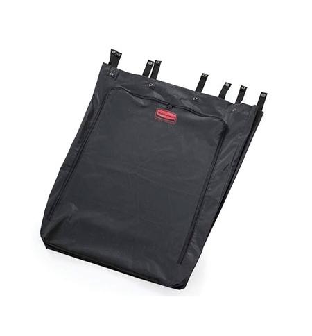 фото: Контейнер-бак для мусора на колесах Rubbermaid 114л для полотняных мешков, черный, с педалью, FG630000BLA