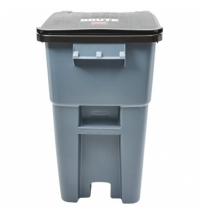 Контейнер-бак для мусора на колесах Rubbermaid Brute Rollout 189.3см серый, с крышкой, FG9W2700GRAY