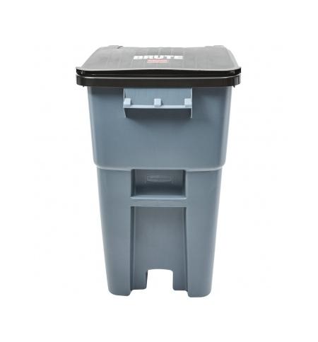 фото: Контейнер-бак для мусора на колесах Rubbermaid Brute Rollout 189.3см серый, с крышкой, FG9W2700GRAY