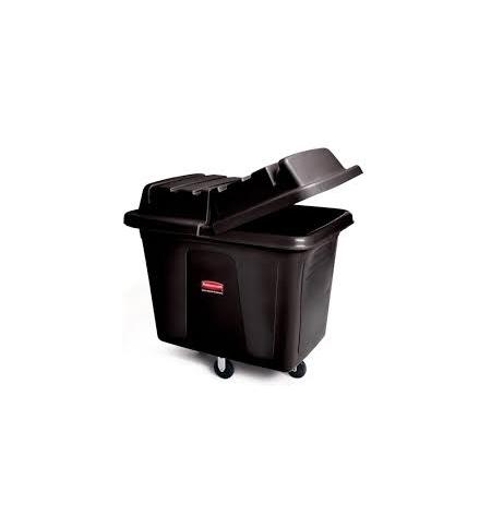 фото: Контейнер для крупногабаритного груза Rubbermaid 200л черный, на колесах, FG460800BLA
