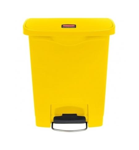 фото: Контейнер для мусора с педалью Rubbermaid Step-On 30л желтый, 1883573