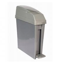 Ведро для мусора с педалью Rubbermaid 20л серое, для гигиенических отходов, RSAN1PEDGREY