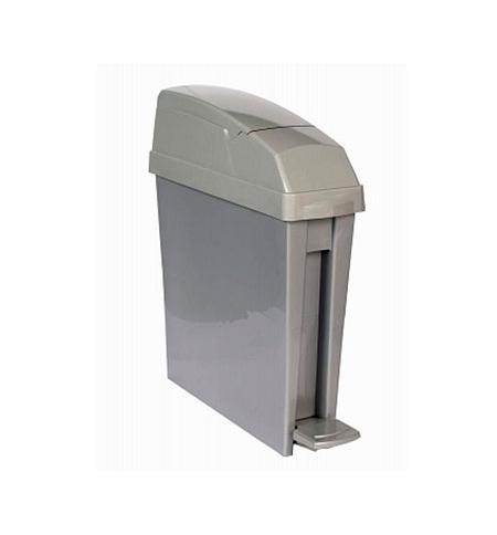 фото: Ведро для мусора с педалью Rubbermaid 20л серое, для гигиенических отходов, RSAN1PEDGREY