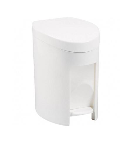 фото: Ведро для мусора с педалью Rubbermaid 6л белое, R000885