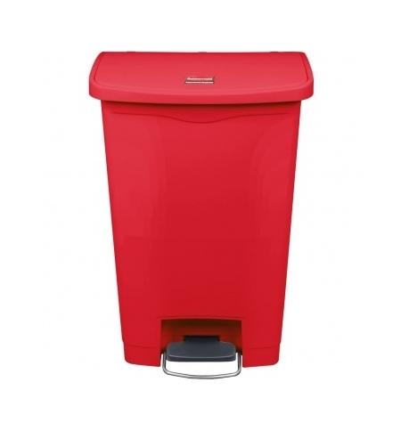 фото: Контейнер для мусора с педалью Rubbermaid Step-On 50л красный, 1883566