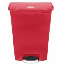 Контейнер для мусора с педалью Rubbermaid Step-On 90л красный, 1883570