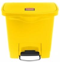Ведро для мусора с педалью Rubbermaid Step-On 15л желтое, 1883572