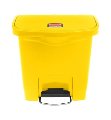 фото: Ведро для мусора с педалью Rubbermaid Step-On 15л желтое, 1883572