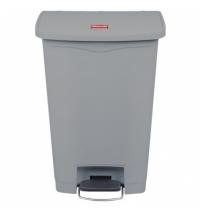Контейнер для мусора с педалью Rubbermaid Step-On 50л серый, 1883602
