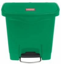 Ведро для мусора с педалью Rubbermaid Step-On 15л зеленое, 1883581