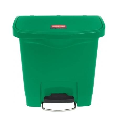 фото: Ведро для мусора с педалью Rubbermaid Step-On 15л зеленое, 1883581