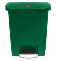 Контейнер для мусора с педалью Rubbermaid Step-On 30л зеленый, 1883582