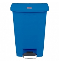 Контейнер для мусора с педалью Rubbermaid Step-On 50л синий, 1883593