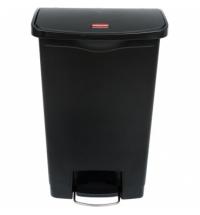 Контейнер для мусора с педалью Rubbermaid Step-On 50л черный, 1883611