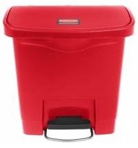 Ведро для мусора с педалью Rubbermaid Step-On 15л красное, 1883563