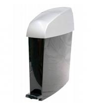 Ведро для мусора с педалью Rubbermaid 12л белое, для гигиенических отходов, RMINIPEDWF