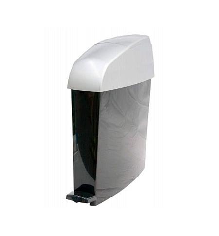 фото: Ведро для мусора с педалью Rubbermaid 12л белое, для гигиенических отходов, RMINIPEDWF