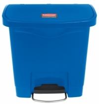 Ведро для мусора с педалью Rubbermaid Step-On 15л синее, 1883590