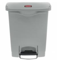 Контейнер для мусора с педалью Rubbermaid Step-On 30л серый, 1883600