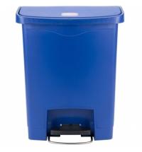 Контейнер для мусора с педалью Rubbermaid Step-On 30л синий, 1883591