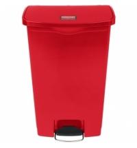 Контейнер для мусора с педалью Rubbermaid Step-On 68л красный, 1883568