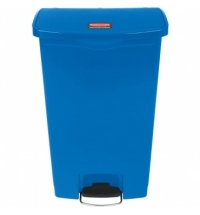 Контейнер для мусора с педалью Rubbermaid Step-On 68л синий, 1883595