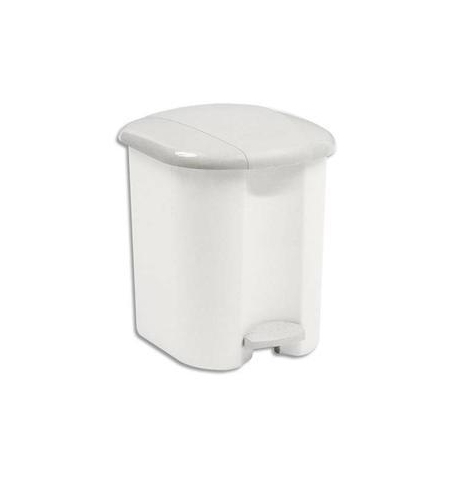 фото: Ведро для мусора с педалью Rubbermaid 15л белое, с внутренним ведром, R000889