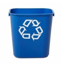 Корзина для бумаг Rubbermaid 12.9л синяя, со знаком переработки, FG295573BLUE