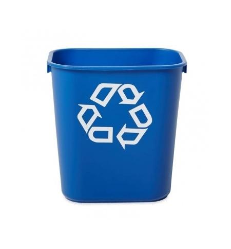 фото: Корзина для бумаг Rubbermaid 12.9л синяя, со знаком переработки, FG295573BLUE