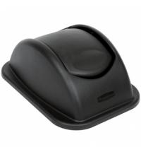 Крышка для контейнера Rubbermaid Untouchable 26.6л качающаяся, черная, FG306600BLA