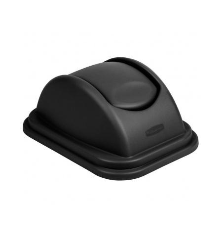 фото: Крышка для контейнера Rubbermaid Untouchable 39л качающаяся, черная, FG306700BLA