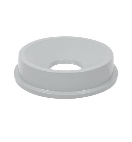 фото: Крышка для контейнера Rubbermaid Untouchable 83.3л воронкообразная, серая, FG354800GRAY