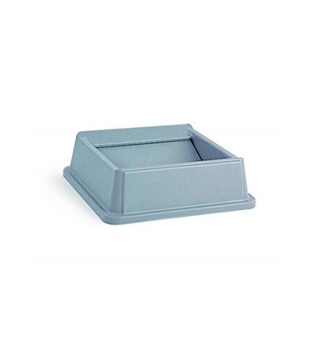 фото: Крышка для контейнера Rubbermaid Untouchable 87/132.5л качающаяся, серая, FG266400GRAY