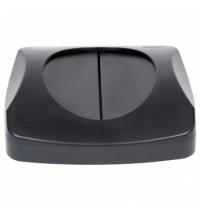 Крышка для контейнера Rubbermaid Untouchable 87л качающаяся, черная, FG268988BLA