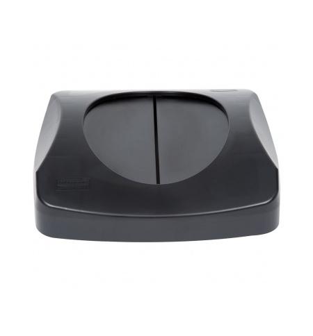 фото: Крышка для контейнера Rubbermaid Untouchable 87л качающаяся, черная, FG268988BLA