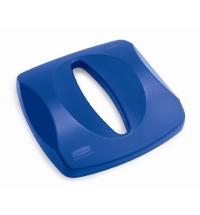 Крышка для контейнера Rubbermaid Untouchable 87л с отверстием для бумаги, синяя, FG269000BLUE