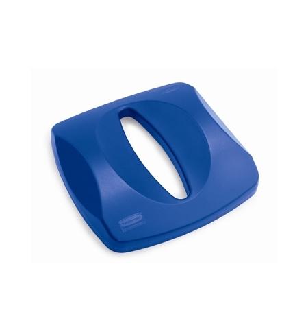 фото: Крышка для контейнера Rubbermaid Untouchable 87л с отверстием для бумаги, синяя, FG269000BLUE