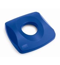 Крышка для контейнера Rubbermaid Untouchable 87л с отверстием для бутылок, синяя, FG269100BLUE