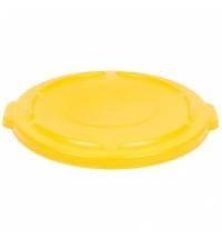 фото: Крышка для контейнера Rubbermaid Brute 121.1л с защелкой, желтая, FG263100YEL